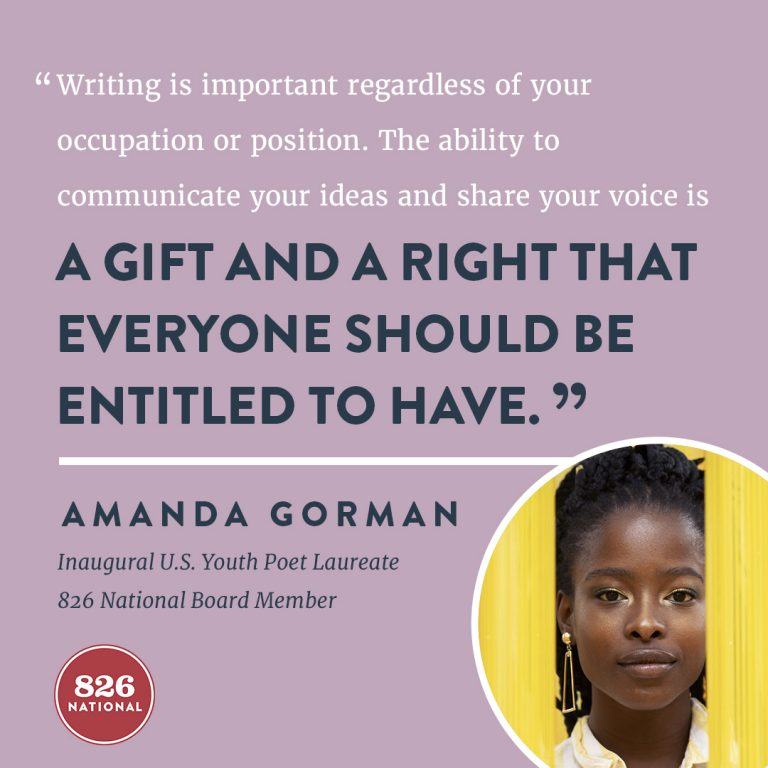 Quote from interviewee Amanda Gorman